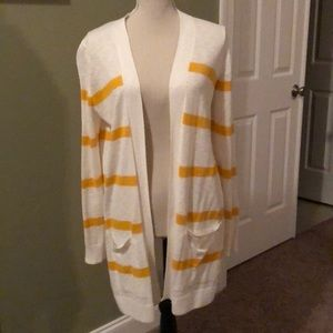 Old Navy striped slouchy boyfriend cardigan